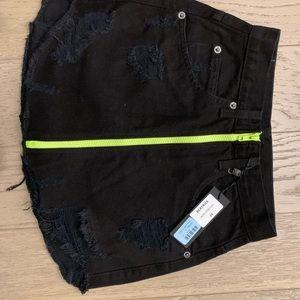 Carmar lf Black Beatrice skirt neon green 24